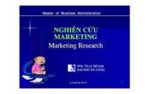 Bài giảng nghiên cứu marketing của trường Đại học Đà Nẵng