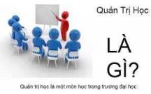 Bài giảng quản trị học của ĐH Quốc gia TP HCM