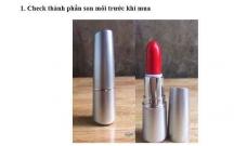 Check thành phần son môi trước khi mua