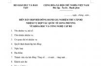 BIÊN BẢN HỌP HỘI ĐỒNG ĐÁNH GIÁ NGHIỆM THU CẤP BỘ NHIỆM VỤ HỢP TÁC QUỐC TẾ SONG PHƯƠNG VỀ KHOA HỌC VÀ CÔNG NGHỆ CẤP BỘ