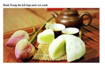 Bánh Trung thu kết hợp nước trà xanh