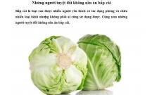 Lợi ích bắp cải với sức khoẻ