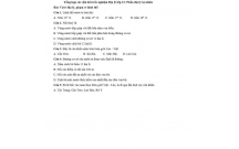 Tổng hợp các câu hỏi trắc nghiệm Địa lý lớp 12: Phần địa lý tự nhiên
