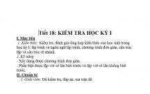 TIN HỌC : ĐỀ KIỂM TRA HK1