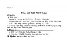 TIN HỌC : KIỂU MẢNG (tiết 2)