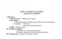 TIẾNG ANH 12 CHỦ ĐỀ NGƯỜI PHỤ NỮ TRONG XÃ HỘI - LESSON5