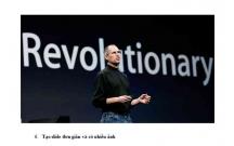 Học Steve Jobs thuyết trình thành công