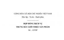 HỢP ĐỒNG DỊCH VỤ TRƯNG BÀY GIỚI THIỆU SẢN PHẨM