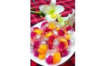 Thạch hoa quả màu sắc cho bé yêu