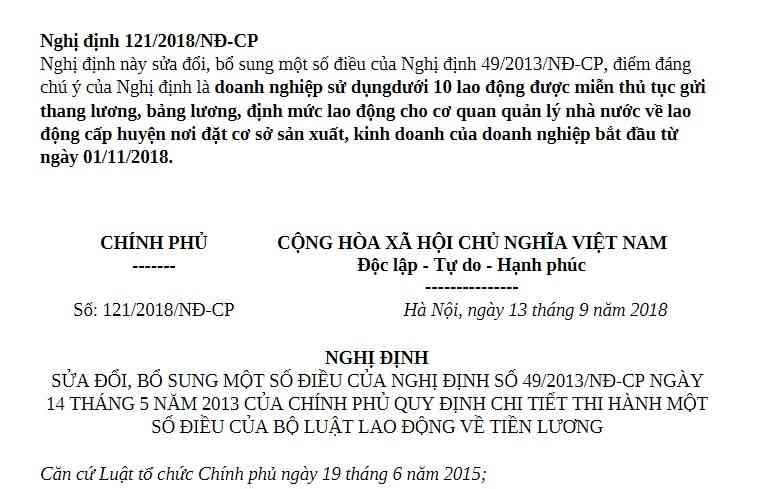 Nghị định 121/2018/NĐ-CP