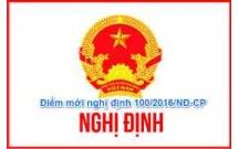 Nghị định 100/2016/NĐ-CP