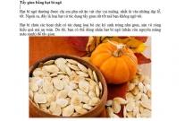 Tẩy giun bằng hạt bí ngô
