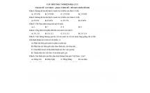 CÂU HỎI TRẮC NGHIỆM ĐỊA LÍ 12 Chuyên đề: vị trí địa lí – phạm vi lãnh thổ - đất nước nhiều đồi núi)