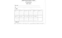 Bài tập ôn tập cuối tuần lớp 2: Tuần 34