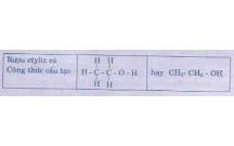 Giải bài tập Hóa lớp 9: Rượu etylic