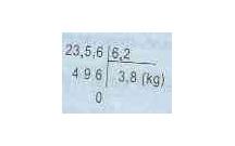 Tóm tắt lý thuyết Toán lớp 5: Chia một số thập phân cho một số thập phân