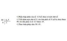 Tóm tắt lý thuyết Toán lớp 5: Chia một số tự nhiên cho một số thập phân