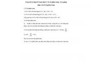 Tóm tắt lý thuyết Toán lớp 5: Tỉ số phần trăm. Các phép tính với tỉ số phần trăm
