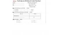 Tuyển tập các đề thi học kì 1 môn Toán lớp 2