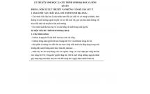 LÝ THUYẾT SINH HỌC 12: CHU TRÌNH SINH ĐỊA HOÁ VÀ SINH QUYỂN