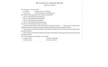 Bộ đề thi thử THPT Môn Sinh học trường ĐH Y dược Thái Bình