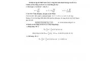 Tài liệu ôn tập thi THPT môn Vật lý: Công thức tính nhanh bài tập con lắc lò xo