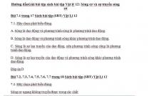 Hướng dẫnGiải bài tập sách bài tập Vật lý 12: Sóng cơ và sự truyền sóng cơ