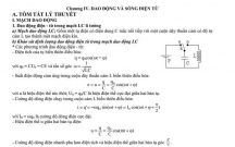 Tóm tắt lý thuyết và bài tập trắc nghiêm chuyên đề Dao động và Sóng điện từ