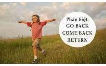 Go back, Come back or Return