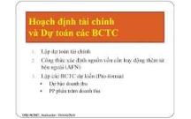 Tài liệu hoạch định tài chính và dự toán các BCTC