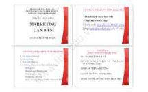 Tham khảo tài liệu môn marketing căn bản