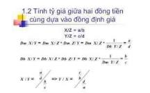 Xác định tỷ giá theo phương pháp tính chéo