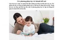 Mẹo hay giúp trẻ nhanh biết nói