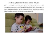 Tác hại khi trẻ nghiện smartphone