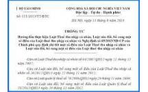 Thông tư 111/2013/TT-BTC ngày 15/08/2013 thực hiện luật thuế TNCN