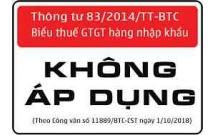 Thông tư 83/2014/TT-BTC hướng dẫn thực hiện thuế GTGT theo danh mục hàng hóa nhập khẩu