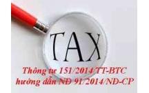 Thông tư số 151/2014/TT-BTC ngày 10/10/2014