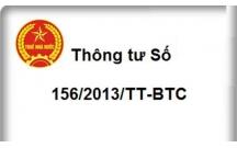 Thông tư 156/2013/TT-BTC hướng dẫn thi hành luật quản lý thuế