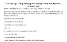 Hướng dẫn GBT Tiếng Anh lớp 9 bài ôn tập số 2