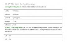 Hướng dẫn GBT trong sách bài tập Tiếng Anh lớp 9 bài số 1