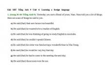 Hướng dẫn GBT trong sách bài tập Tiếng Anh lớp 9 bài số 4