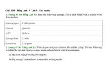 Hướng dẫn GBT trong sách bài tập Tiếng Anh lớp 9 bài số 5