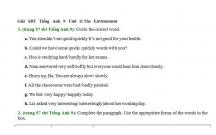 Hướng dẫn GBT trong sách bài tập Tiếng Anh lớp 9 bài số 6