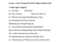 Hướng dẫn GBT tiếng Anh lớp 5 bài số 13