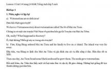Hướng dẫn GBT tiếng Anh lớp 5 bài số 14