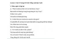 Hướng dẫn GBT tiếng Anh lớp 5 bài số 15