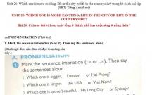 Hướng dẫn GBT trong sách bài tập tiếng Anh lớp 5 bài số 20
