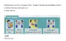 Hướng dẫn GBT Tiếng Anh lớp 2 bài số 2