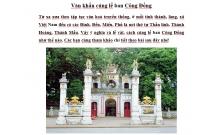 Văn khấn cúng lễ ban Công Đồng theo phong tục việt nam