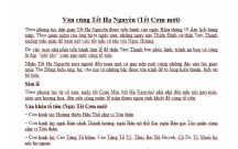 Văn cúng Tết Hạ Nguyên (Tết Cơm mới) cổ truyền